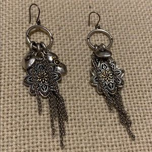 FUN! Lucky Brand silver tone dangle earrings